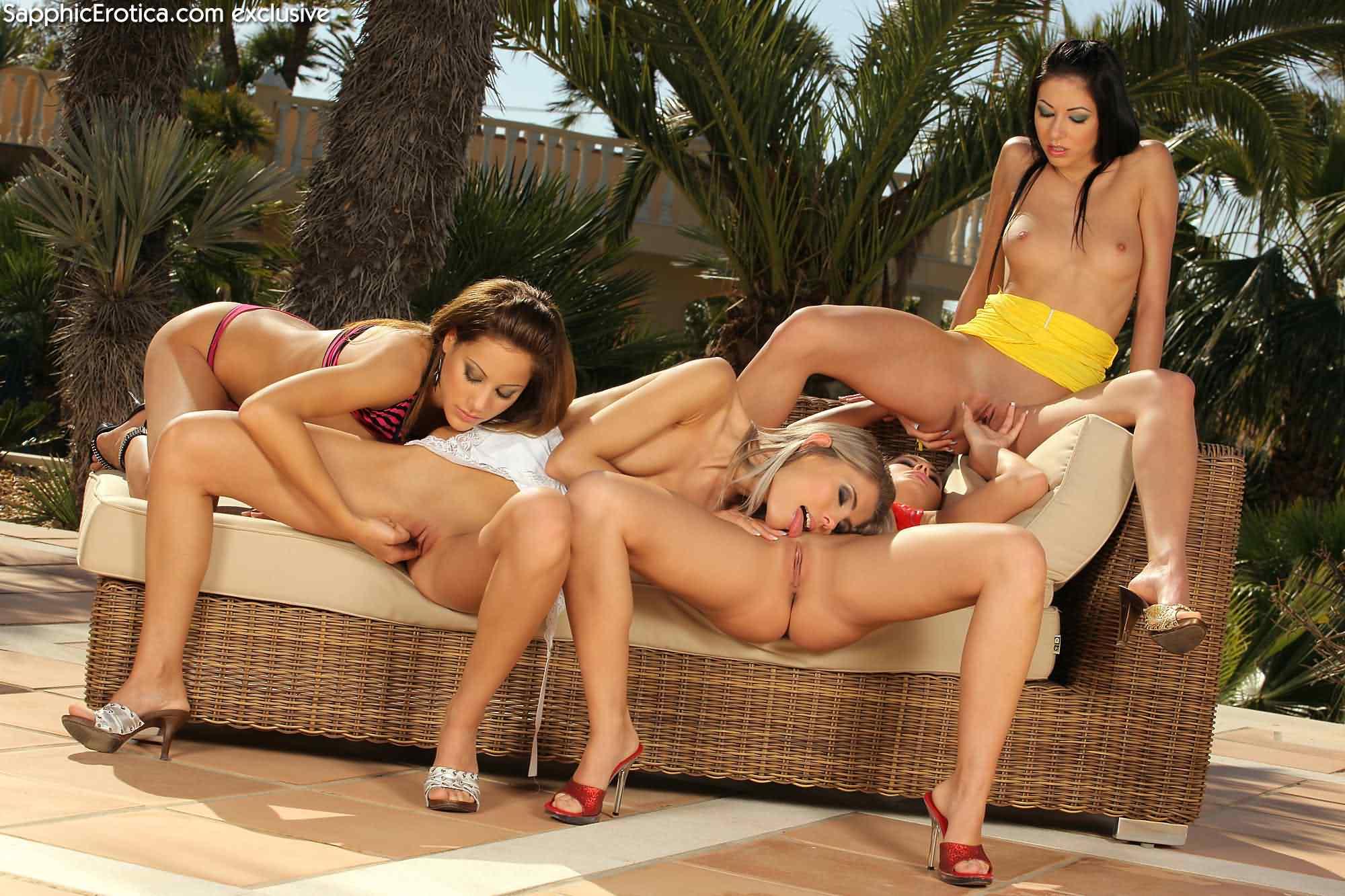 Four girls anal